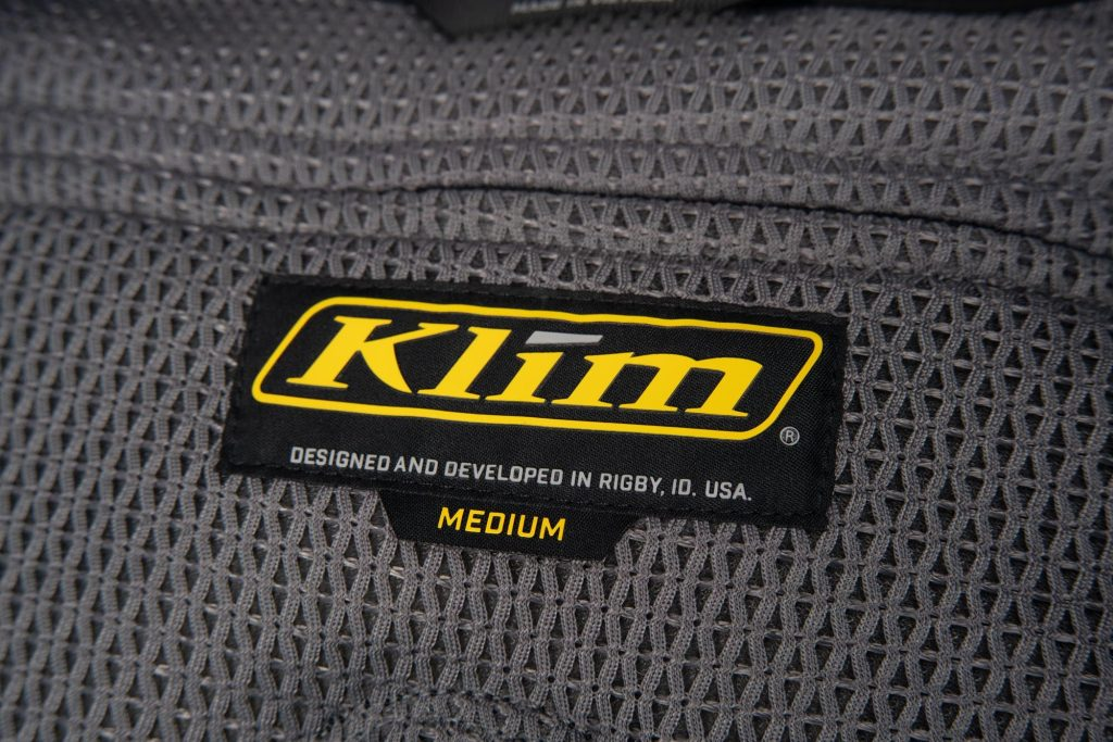 Interior label of Klim Ai-1 airbag vest