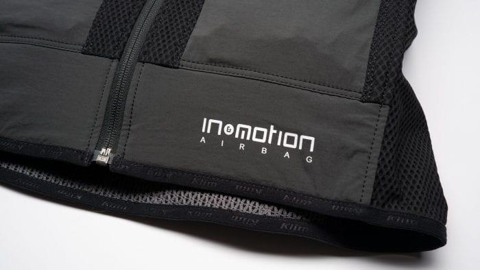 In&Motion logo on Klim Ai-1 airbag vest