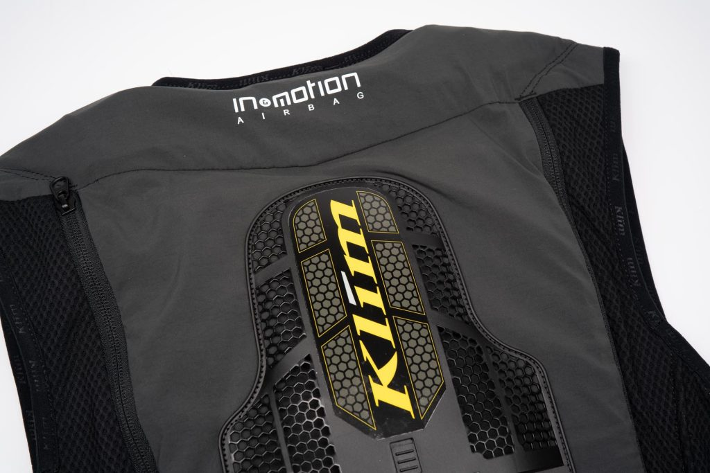 In&Motion and Klim logo on Ai-1 airbag vest