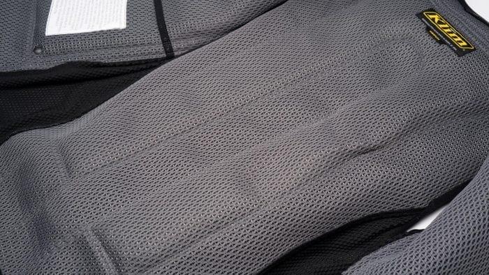 Mesh interior view of Klim Ai-1 airbag vest