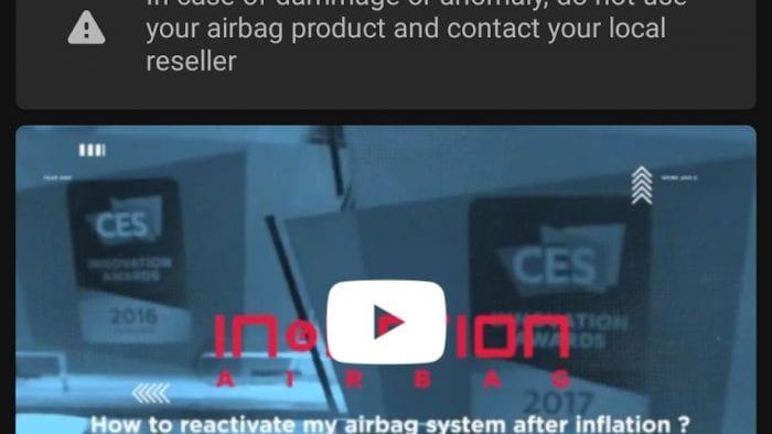 My In&box app firmware screen