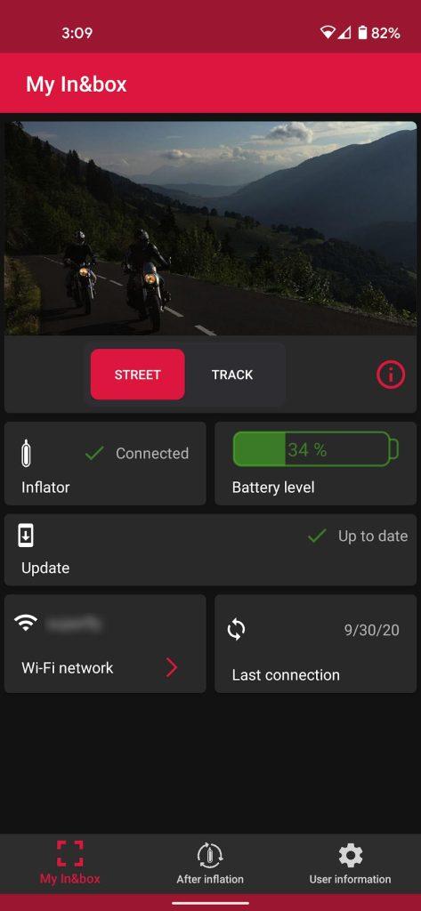 My In&box app main screen