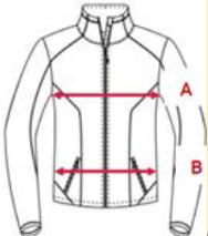 diagram of measurement points on jacket or coat