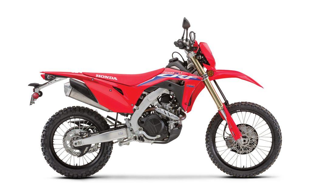 2021 Honda CRF450RL in red.