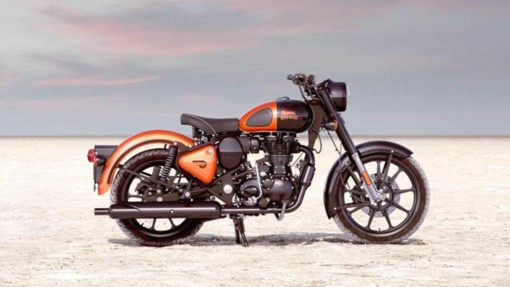 Royal Enfield Orange ember classic 350