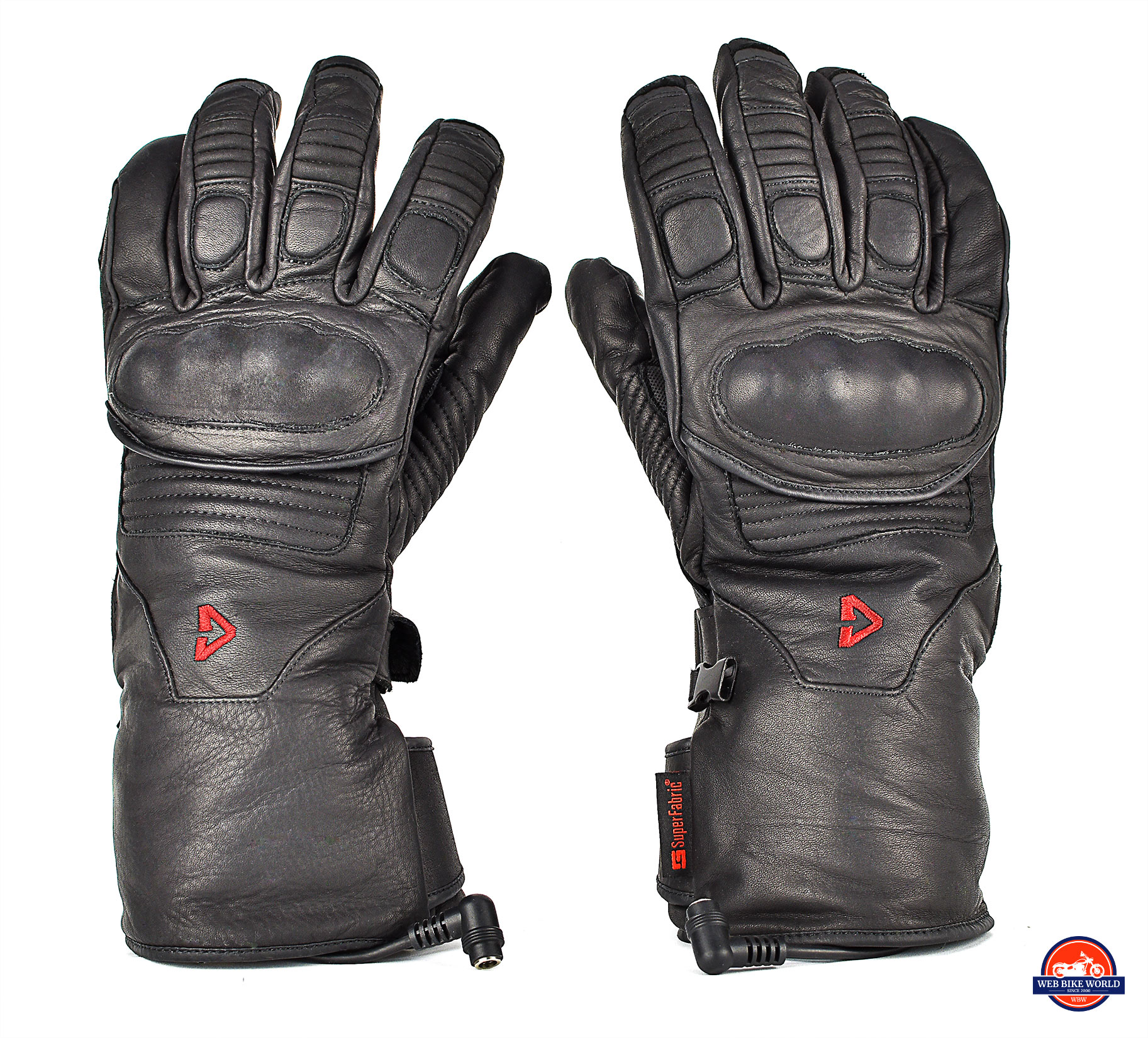 The Gerbing Vanguard heated motorcycle gloves top view.