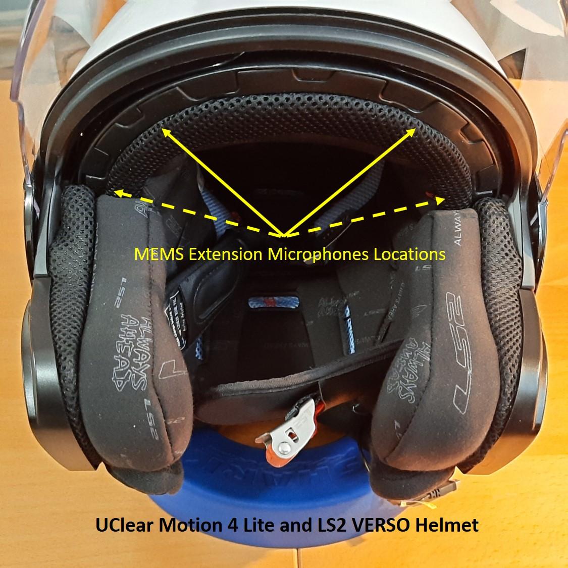 Front view of the LS2 VERSO helmet