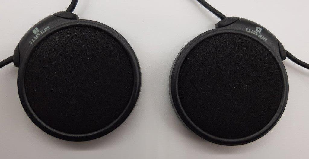 Closeup of intercom speakers