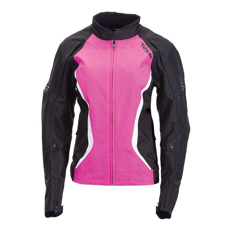 Black and Pink Fly Racing Street Butane motorcycle jacket