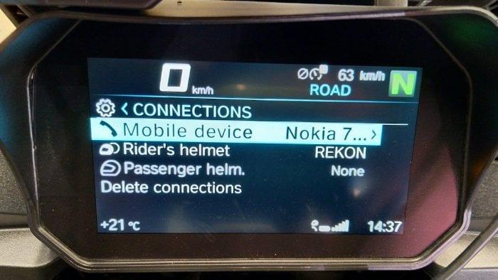 iASUS REKON system pairing screen