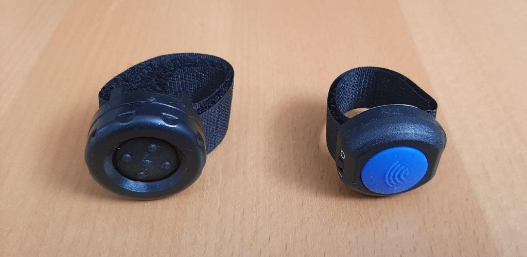 Bluetooth low energy buttons for pairing with iASUS Stealth Throat microphone