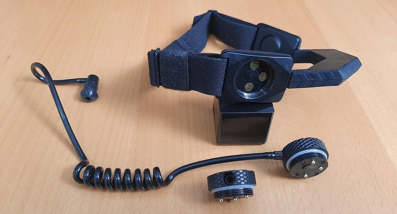 Close up of iASUS Stealth Throat microphone