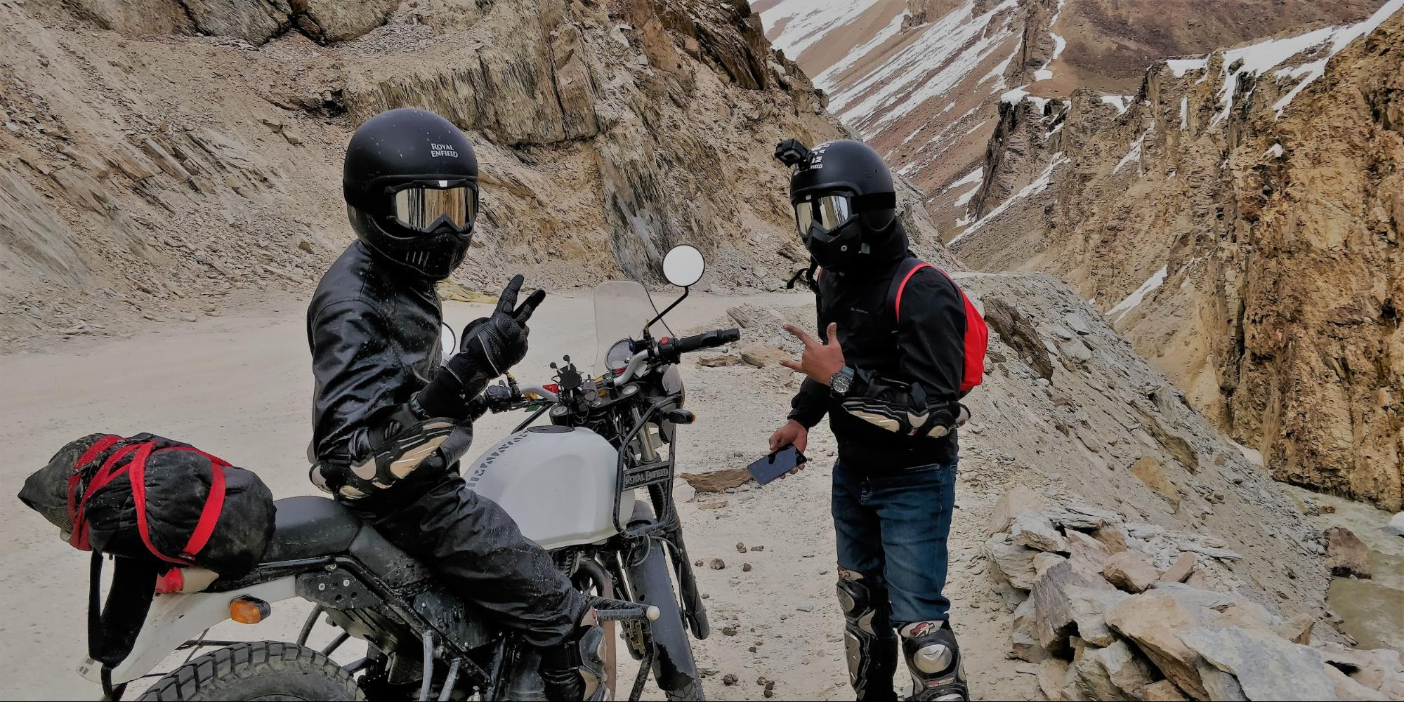 motorcyclists wearing gear