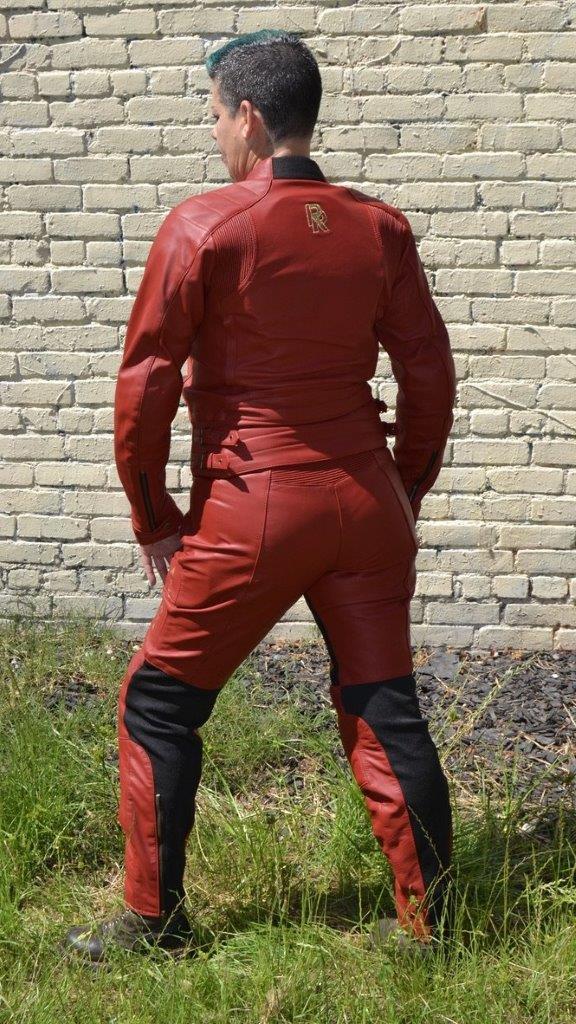 Female rider wearing Raven Rova Phoenix motorcycle pants