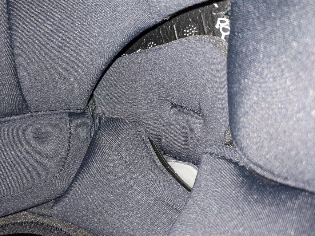 Helmet speaker pocket covered