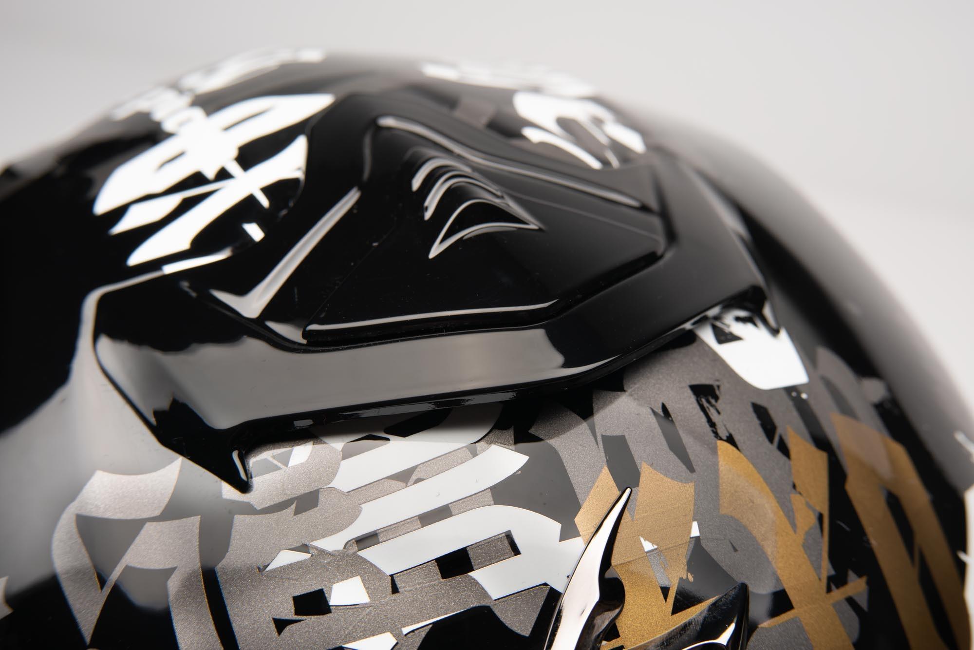 Top vent of the Scorpion EXO R1 helmet