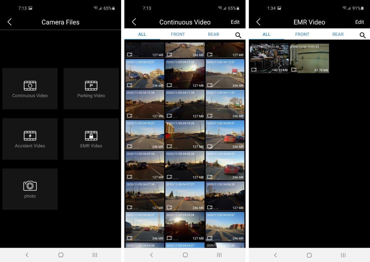 INNOVV camera file browsing and folders