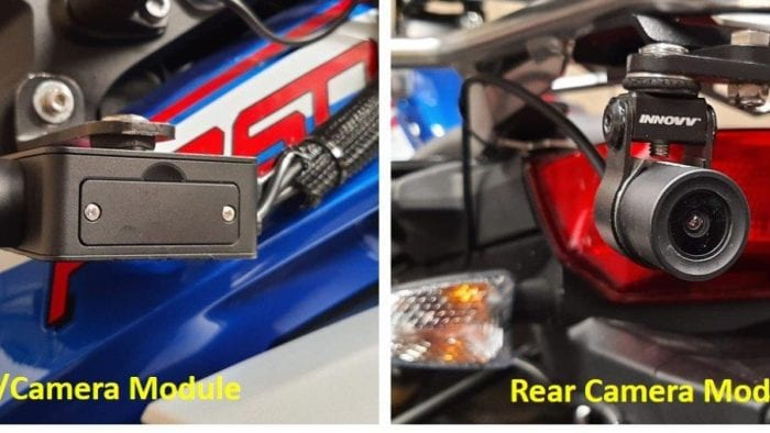 The front and rear INNOVV camera system modules