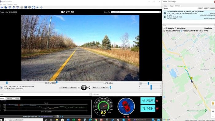 Reviewing INNOVV captured video