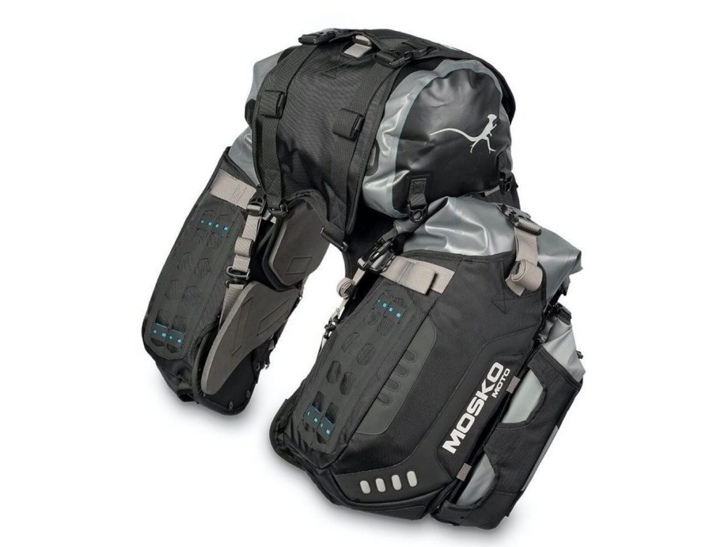 the Mosko Moto Reckless 80L v3.0 Revolver Luggage