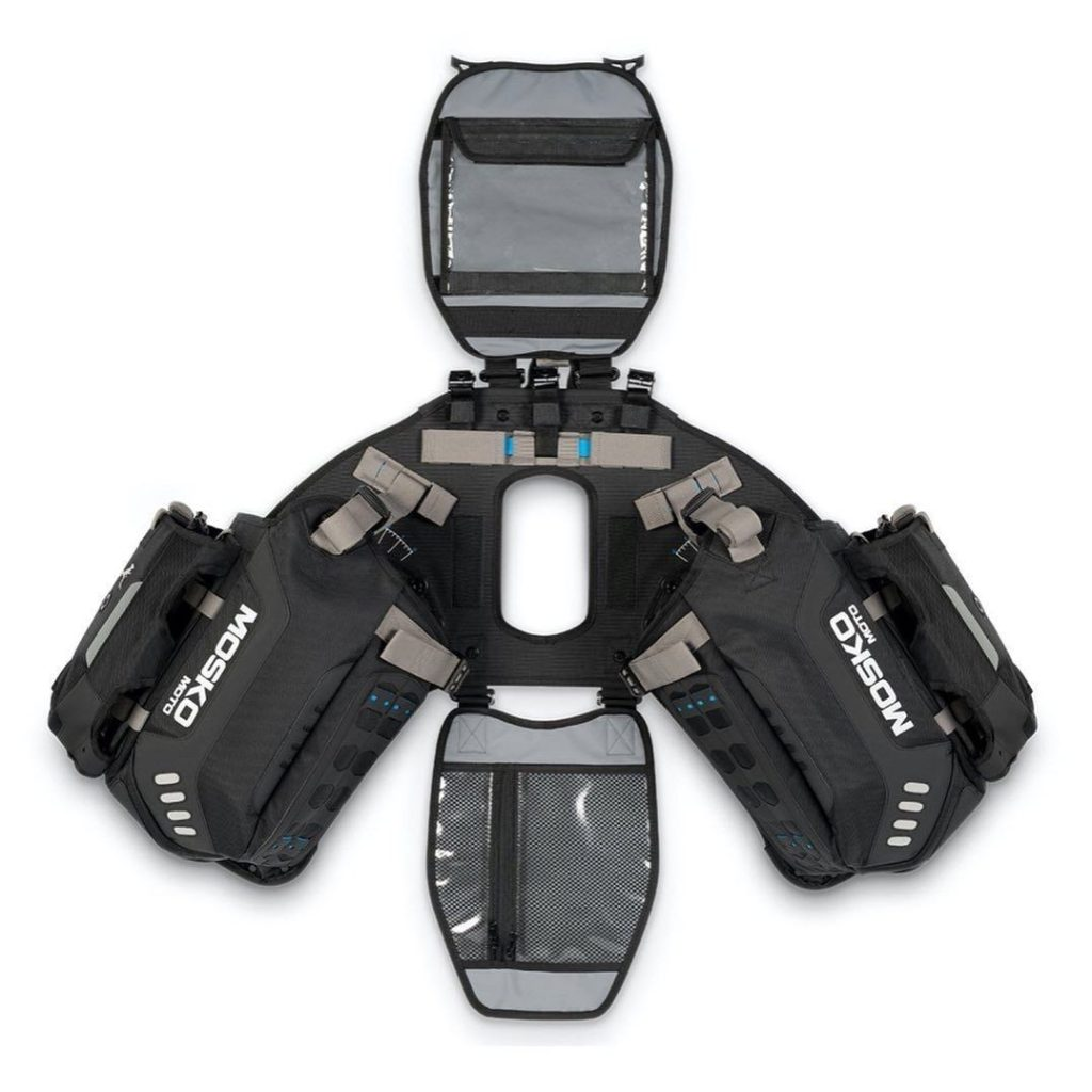 The harness for the Mosko Moto Reckless 80L v3.0 Revolver luggage system.