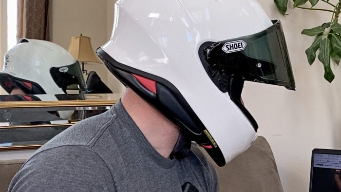 The new Shoei RF-1400 fits my head perfectly right out of the box.