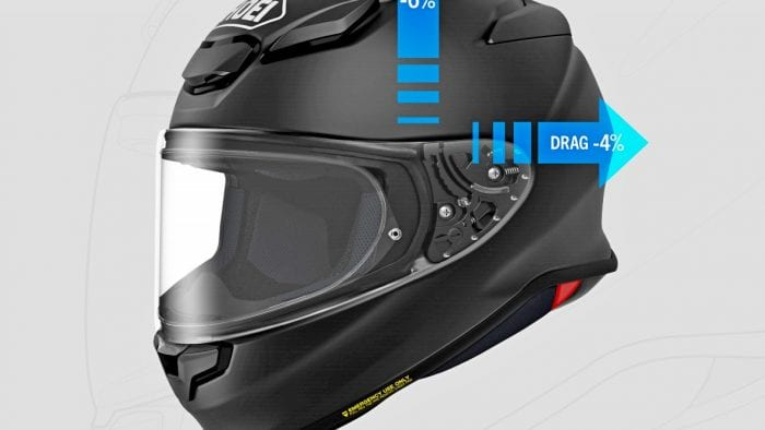 The new Shoei RF-1400 boats a decrease in lift and pull.