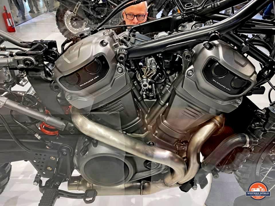 The Harley Davidson Revolution Max engine.