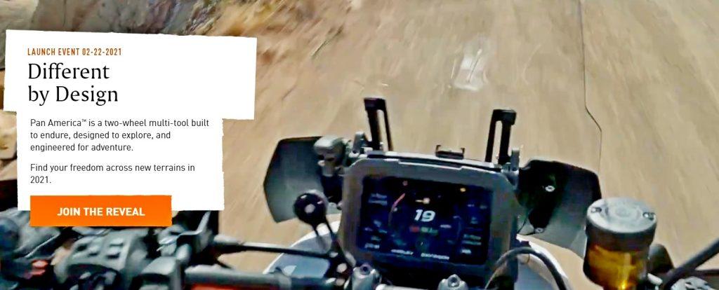 The dash display on the Harley Davidson Pan America.