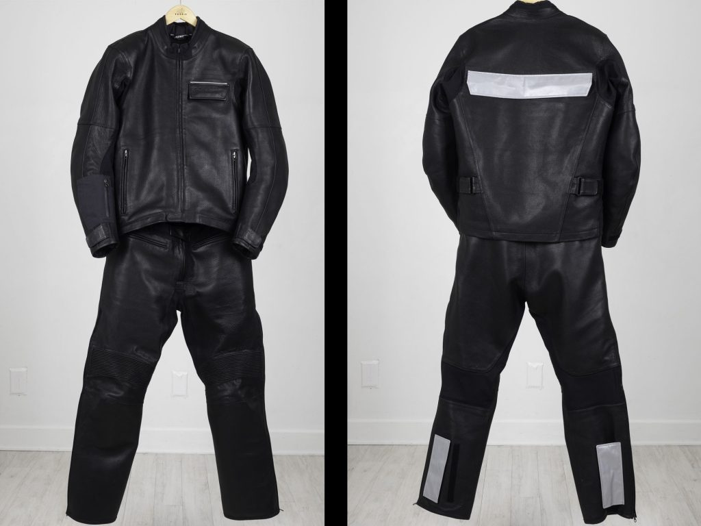 Front and rear view of the Aerostich 3.0 transit suit