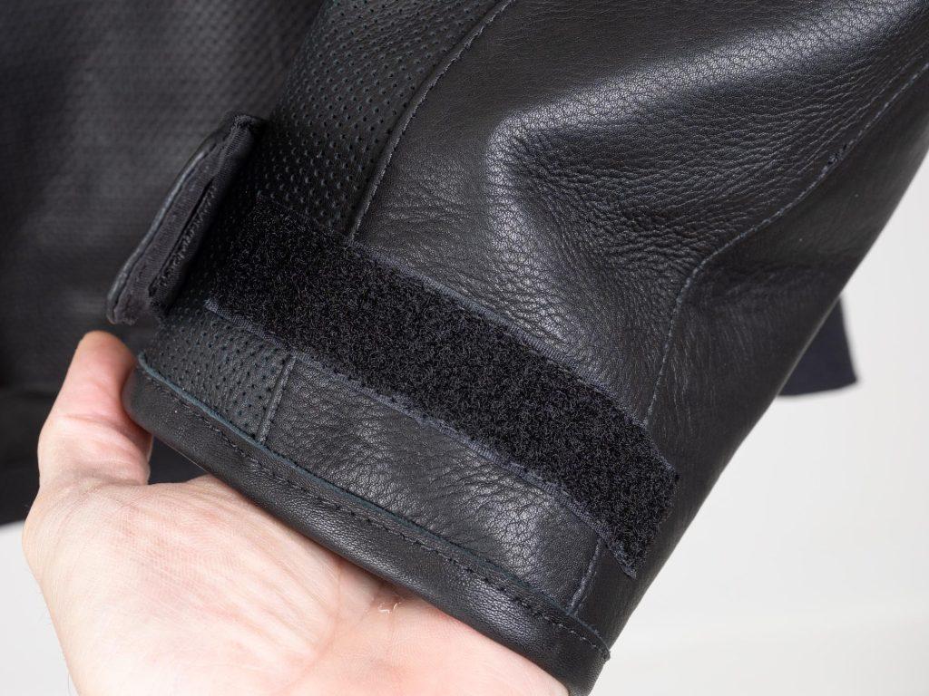 Closeup of wrist cuff on jacket