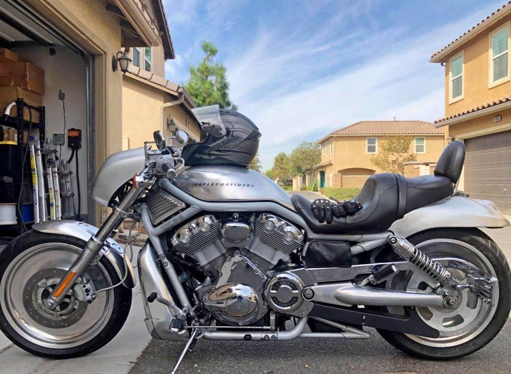 A Harley Davidson V-Rod.
