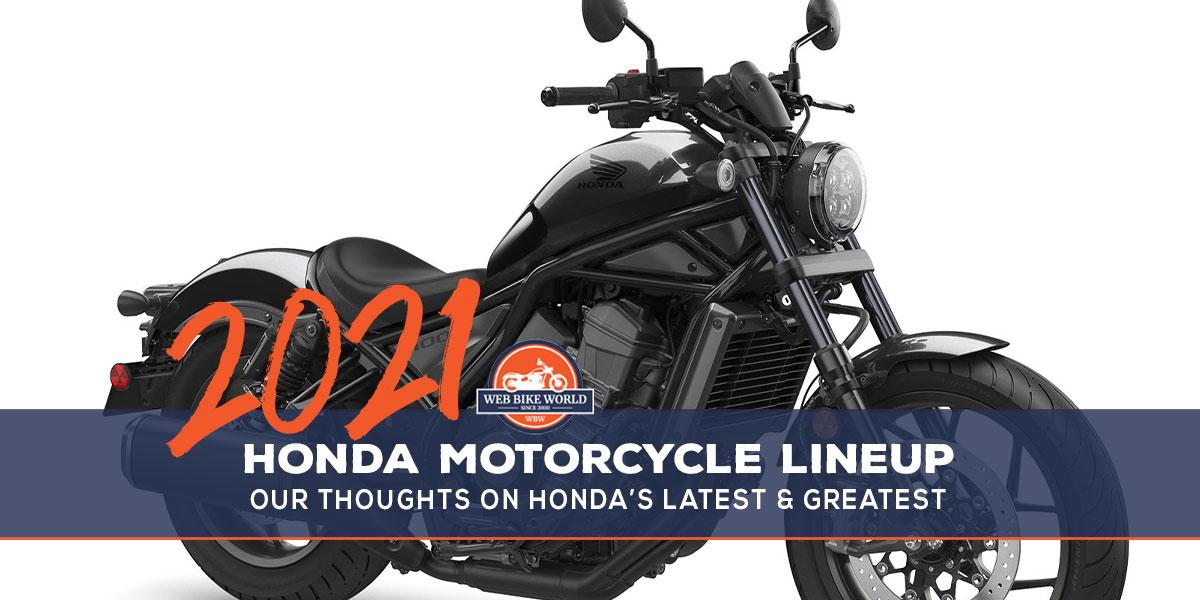 2021 Honda Motorcycle Lineup