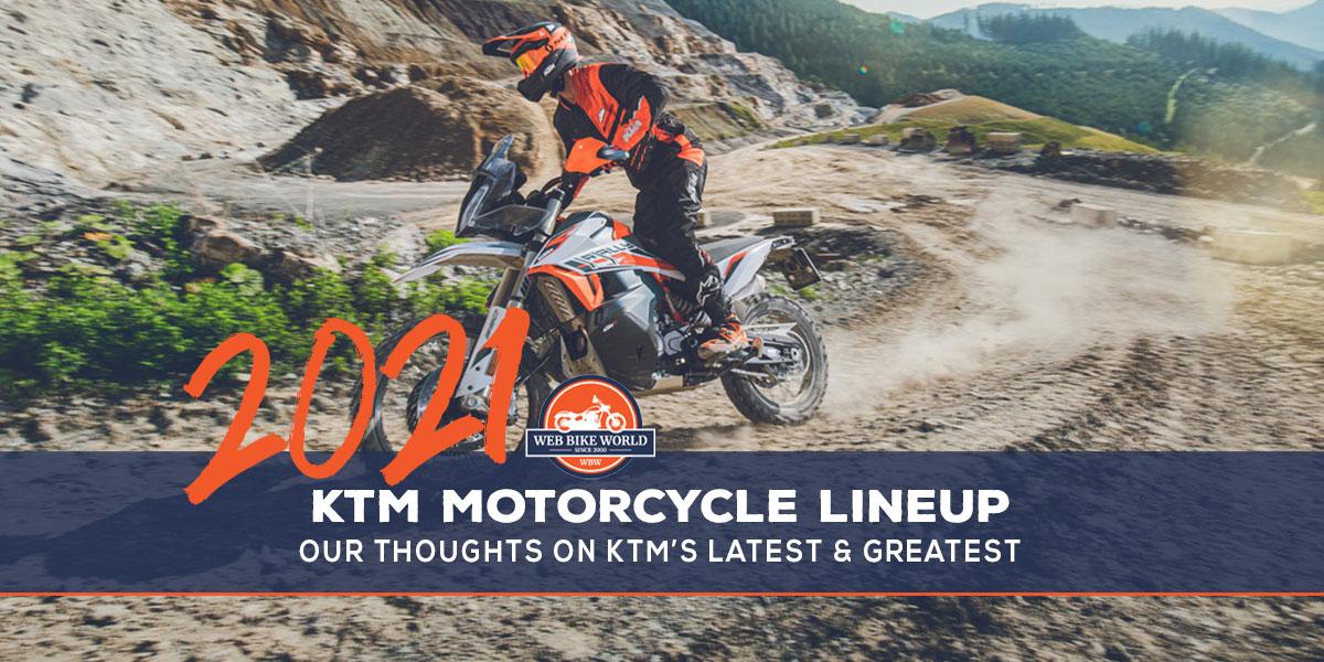 2021 KTM Motorcycle Lineup