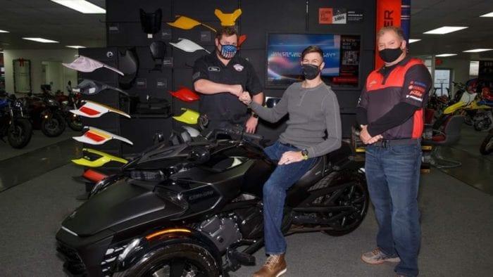 Aubrey Hand Receives Can-Am Spyder FS-3