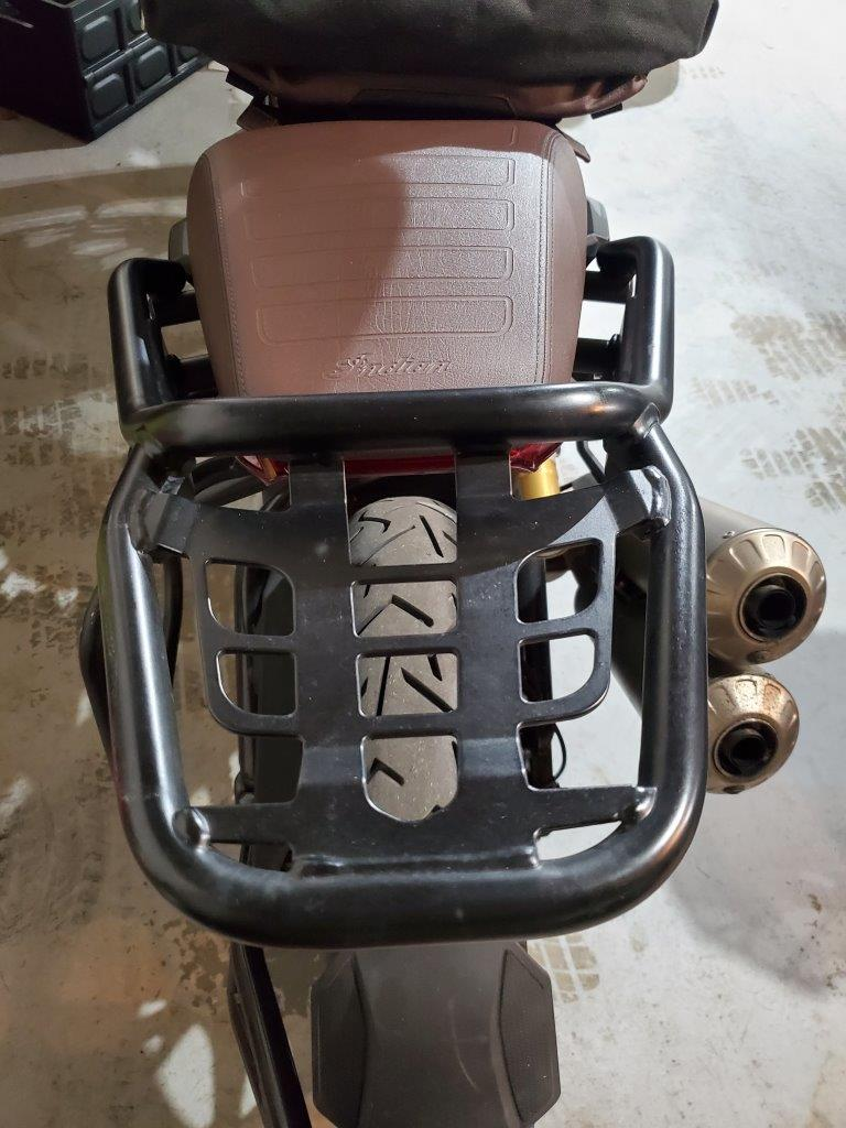 Indian FTR 1200 S Tail Rack from the Indian Tour Accessory Package