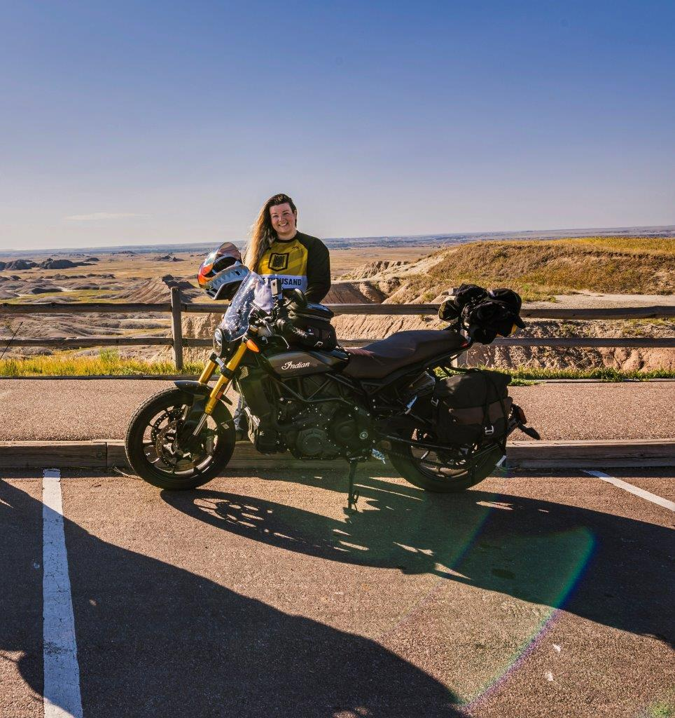 Indian FTR 1200 S with Tour Accessory Package in Badlands National Park