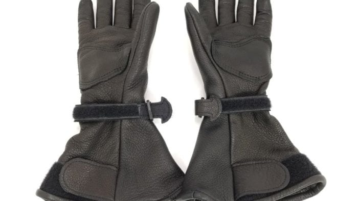 The Lee Parks Design Deersports gloves palm side view.