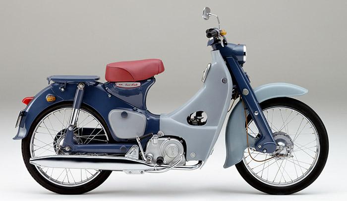 1958 Honda Super Cub C100 Side View