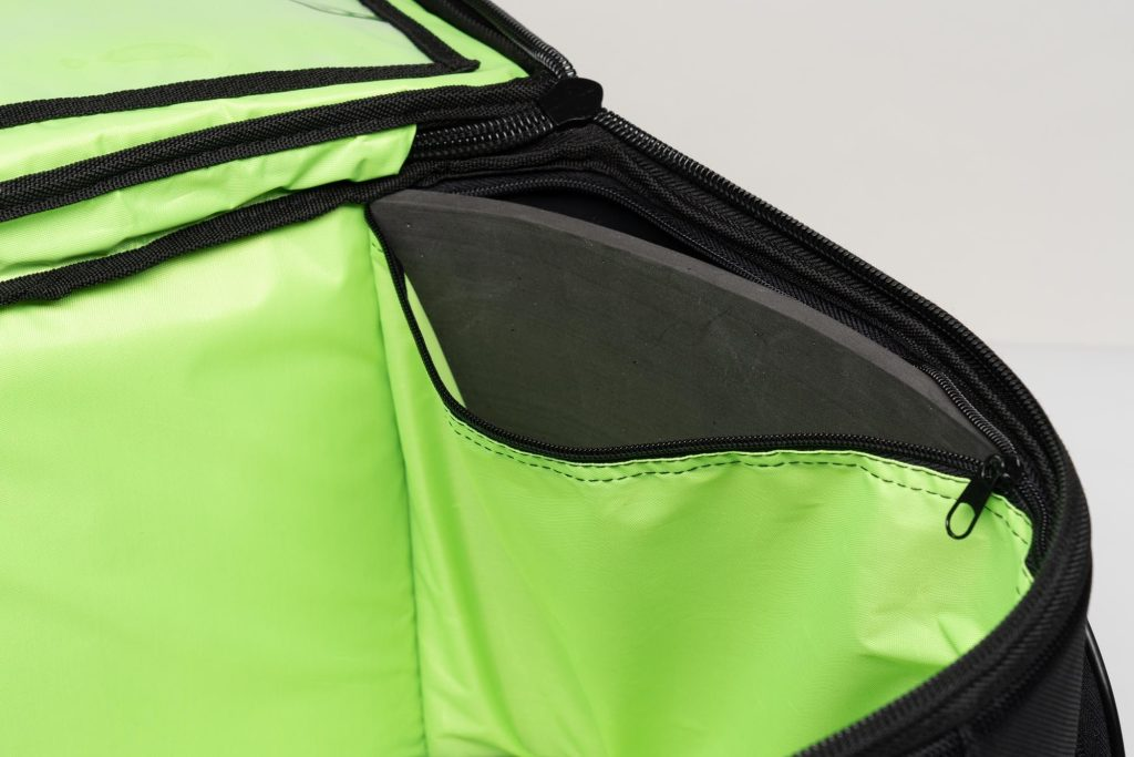 Close up of zippers on the 70025 bag