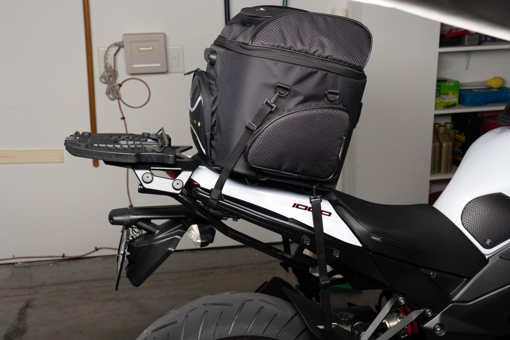 Side view of the 70025 on a 2013 Ninja 1000.