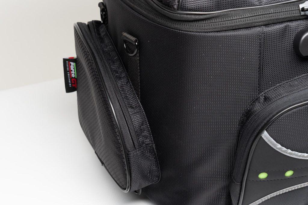 Close up of the side pocket.