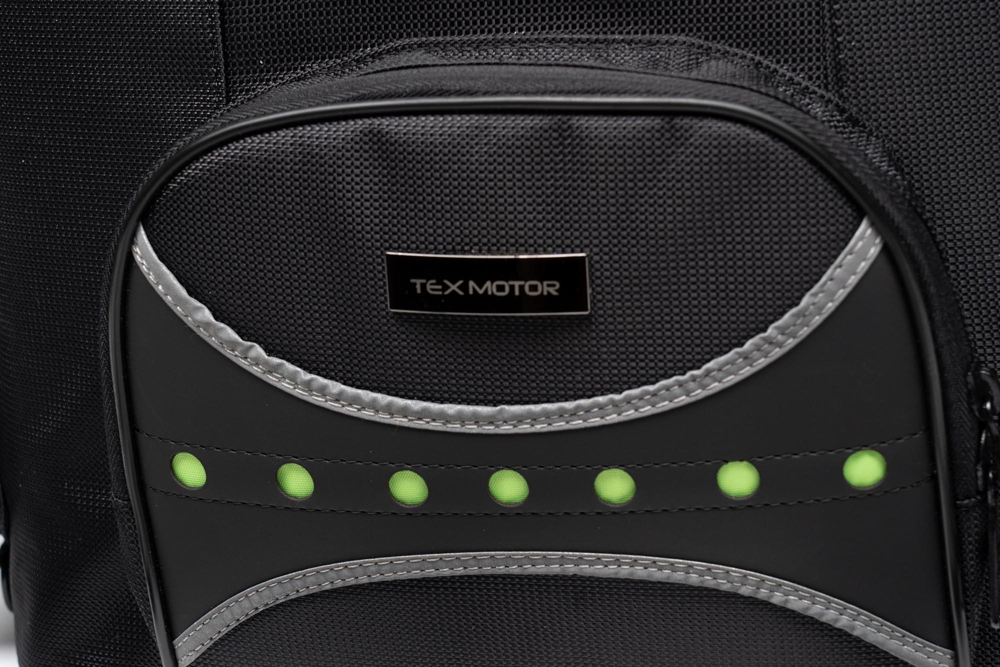 Front pocket of Tex Motor's 70025 motorcycle bag.