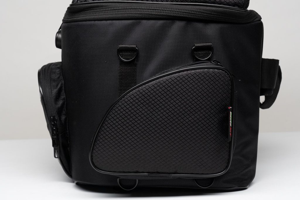 Side view of 70025 bag with side mounted D-rings