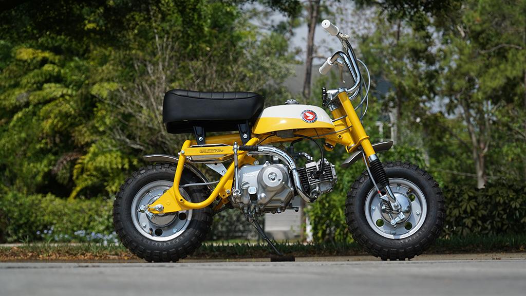 1968 Honda Z50 Monkey Bike Side View