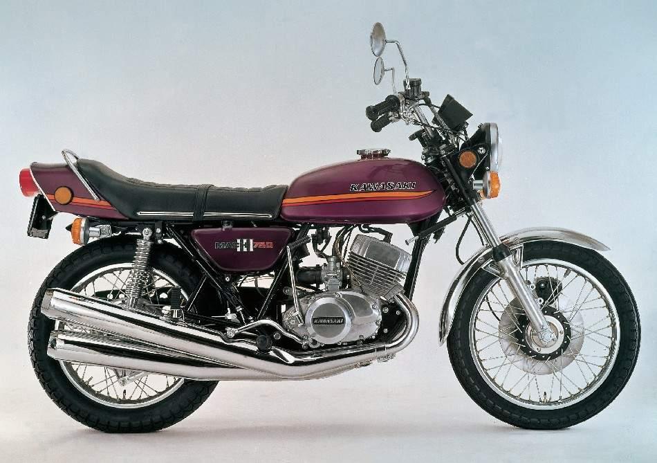 1973 Kawasaki H2 Mach IV 750 Side View