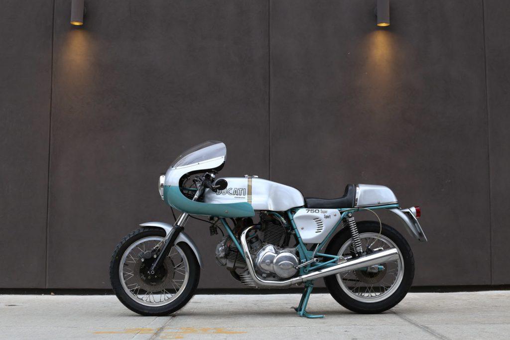 1974 Ducati 750 Super Sport Side View