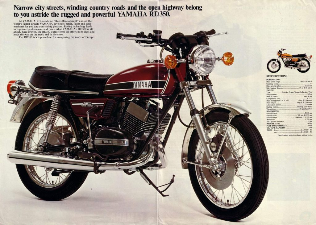 1974 Yamaha RD 350 Advertisement