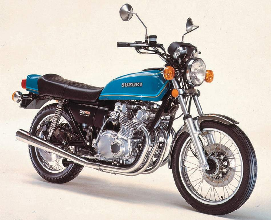 1977 Suzuki GS750 Front and Side View