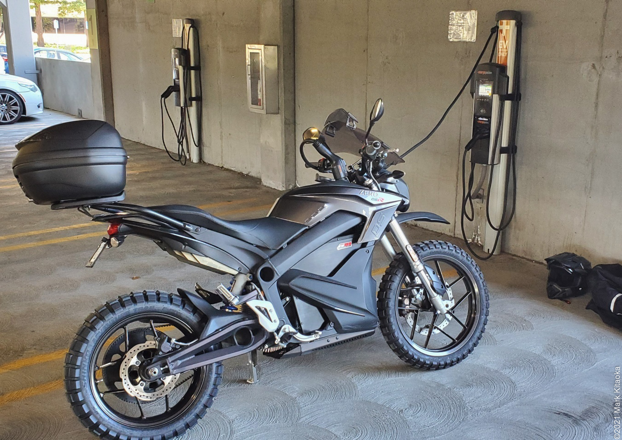 Zero DSR parked at charging station